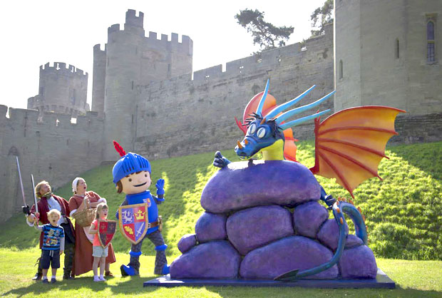 Mike the Knight and young castle visitors come face-to-face with the dragon.